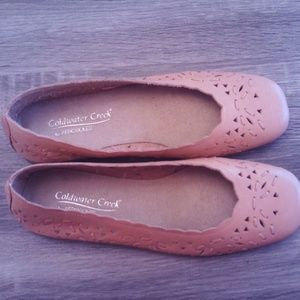 Coldwater Creek Tan Leather Flats Size 7M
